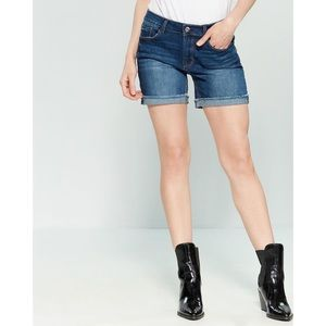 Kensie Blue Bermuda Denim Cuffed Shorts
